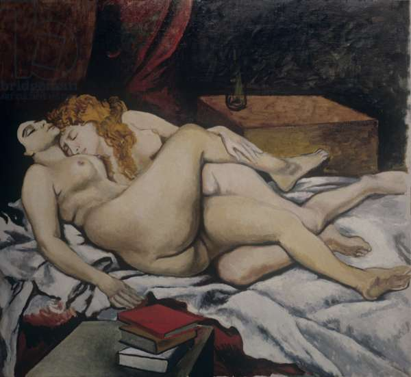 Study after 'The sleepers' by Courbet, by Renato Guttuso, 20th Century, oil on canvas