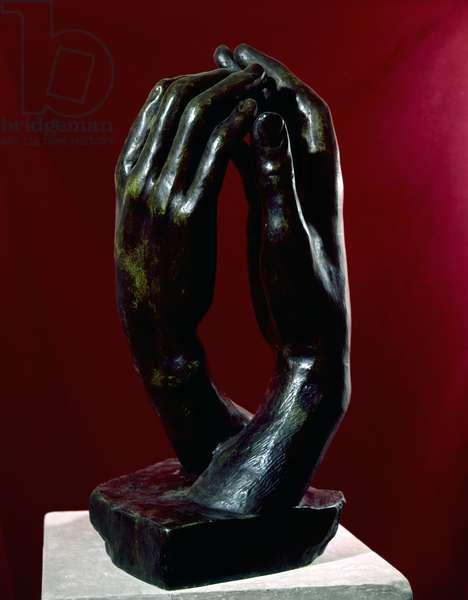The Cathedral (La Cathédrale), by Auguste Rodin, 1908, 20th Century, bronze, 64 x 34 x 32 cm