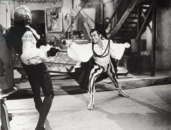 Stewart Granger and Mel Ferrer, 1952 (b/w photo)