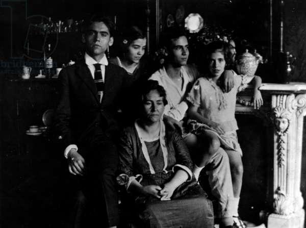 Federico Garcia Lorca in a family photo