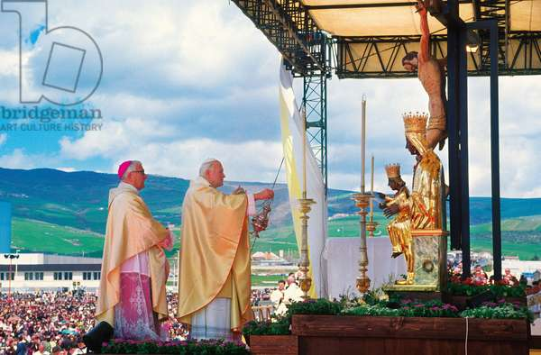 Pope John Paul II and Giuseppe Vairo, Potenza, Italy