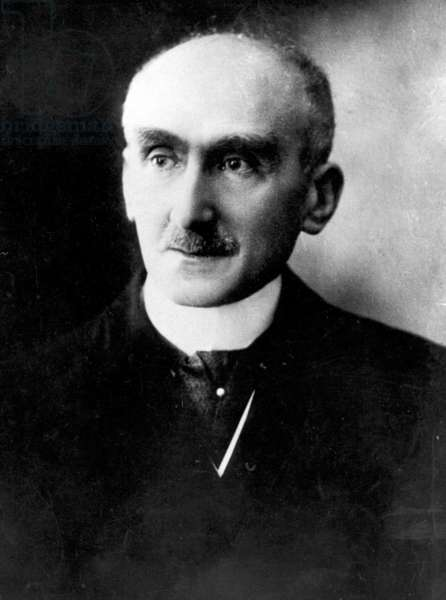 Close up of Henri Bergson, 1927 (b/w photo)