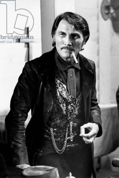 Jack Palance on the set of thel film 'Bullldozer is back Amigo'