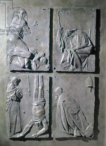Door of the Death (Porta della morte), by Giacomo Manzù, 1958 - 1964, 20th Century, bronze, 471 x 236 cm