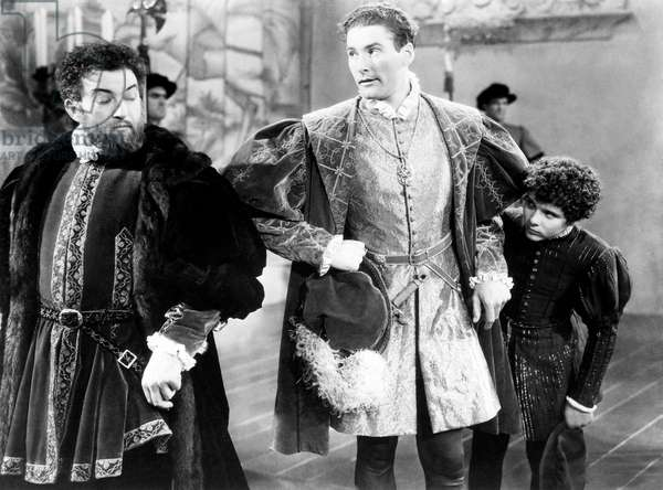 Claude Rains, Errol Flynn and Bobby Mauch in 'The Prince and the Pauper', 1937 (b/w photo)
