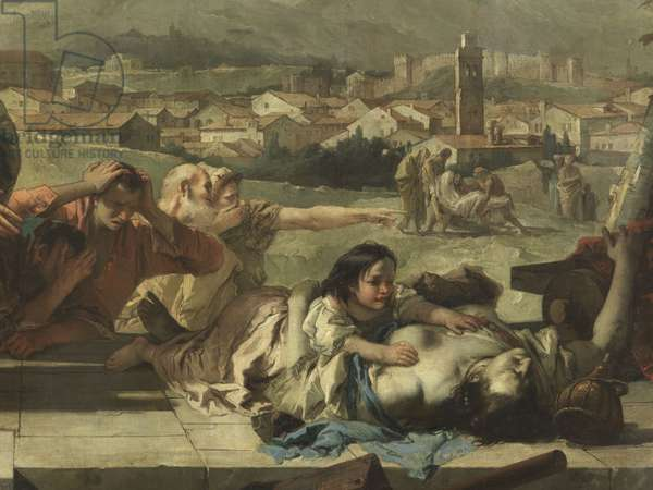 Saint Tecla Pray for the Liberation of Este from the Plague, by Giambattista Tiepolo, 1758, 18th Century, oil on canvas, 675 x 390 cm