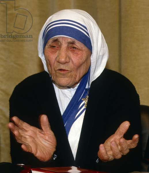 Mother Teresa of Calcutta, Vatican, 1990 (photo)