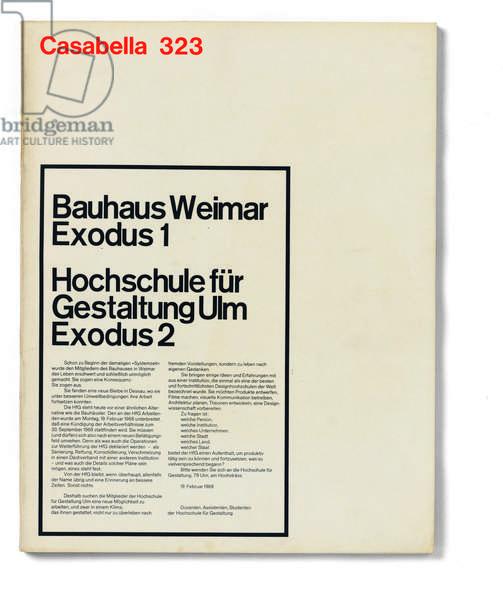 Casabella, No 323, February 1968, 20th century, Arnoldo Mondadori Editore, Milan, 24.5 x 31 cm.