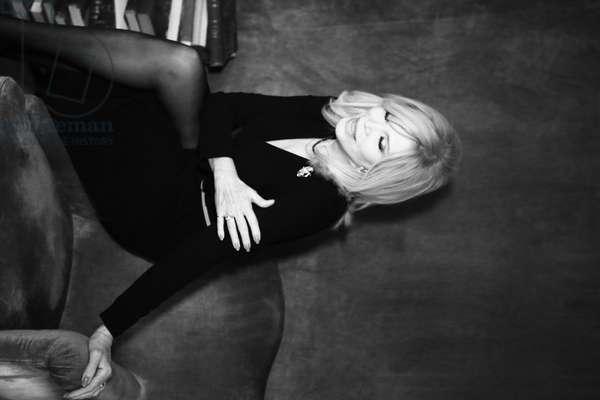 Amanda Lear, Italy, 2015 (b/w photo)