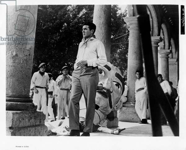 Tyrone Power in 'The sun also rises', 1957 (b/w photo)