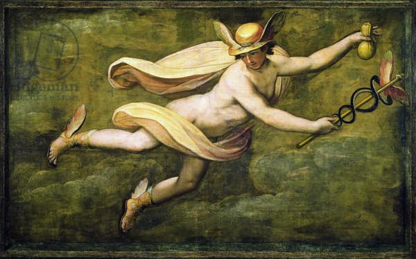 Mercury (Mercurio), by Jacopo Zucchi, 1550, 16th Century