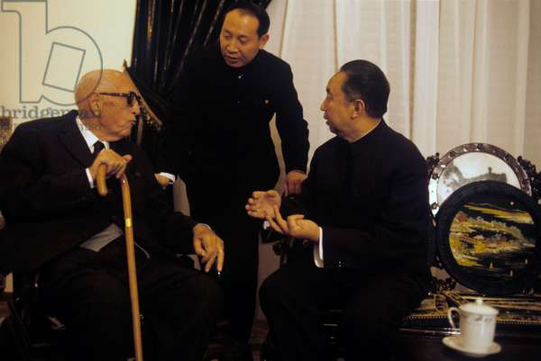 Hua Guofeng speaking with Pietro Nenni in Rome