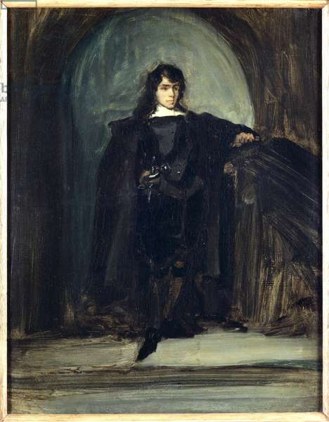 Self-Portrait as Ravenswood (Autoportrait en Ravenswood), by Eugà¨ne Delacroix, 1821, 19th Century