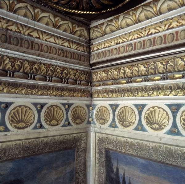 Journey of the Magi or Procession of the Magi, by Benozzo di Lese di Sandro detto Benozzo Gozzoli, 1459, 15th Century, fresco and wooden inlay