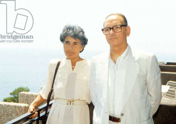 Ennio Morricone with his wife Maria Travia, 1980 (photo)