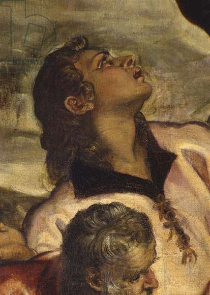 Crucifixion, by Jacopo Robusti also known as Tintoretto, 1565, 16th Century, oil on canvas, 536 x 1224 cm