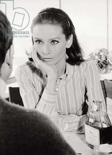 Audrey Hepburn in 'Two for the Road' (b/w photo)