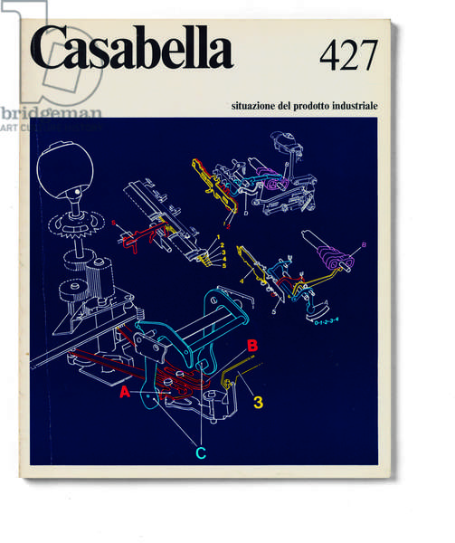 Cover of Casabella, N. 427, July-August 1977, 20th Century, graphic, 31 x 24,5 cm