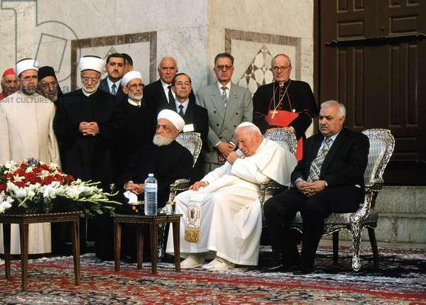 Pope John Paul II, Sirya, 2001 (photo)