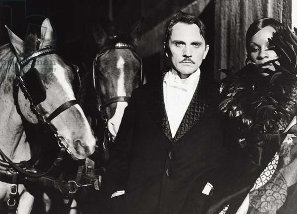Terence Stamp and Ruth League in 'The Divine Nymph', 1975 (b/w photo)