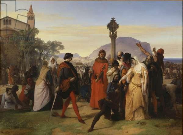 Sicilian Vespers, 1846 (oil on canvas)
