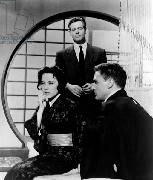 Robert Stack with Robert Ryan and Shirley Yamaguchi