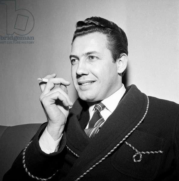 Nicola Filacuridi smoking a cigarette,  Milan, Italy