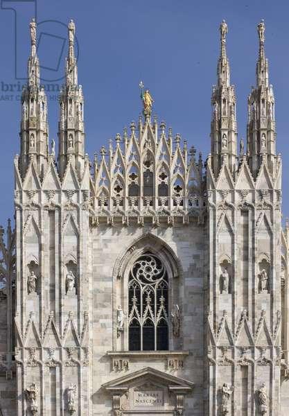 Duomo of Milan (Duomo di Milano), by Pellegrino Tibaldi known as Pellegino de' Pellegrini, Martino Bassi, Giovanni Antonio Amadeo, Giovanni Giacomo Dolcebuono, Francesco Maria Richini (Ricchini, Richino or Ricchino), 14th Century, candoglia marble