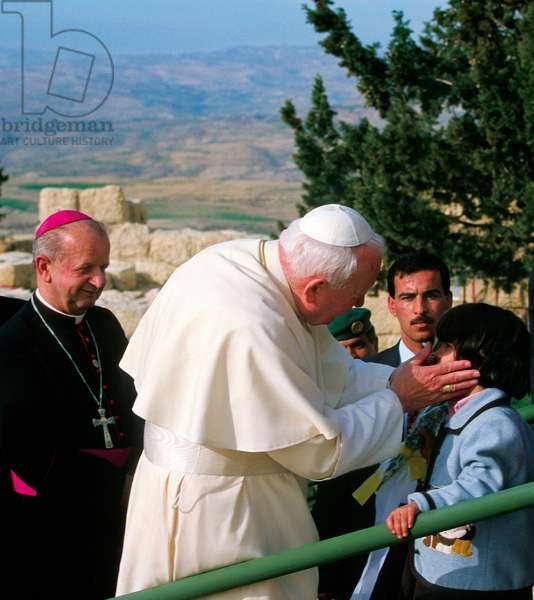 Pope John Paul II and Stanislaw Dziwisz, Jordan