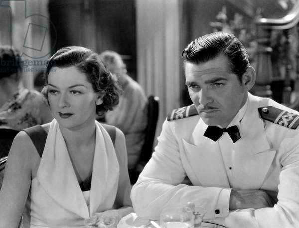 Clark Gable and Rosalind Russel in 'China seas', 1935 (b/w photo)