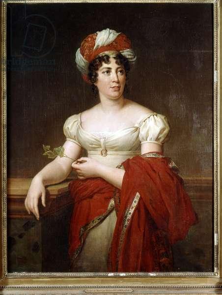 Portrait of Madame de Stael (Portrait de Madame de Staà«l), by Marie-Eléonore Godefroid, 19th Century