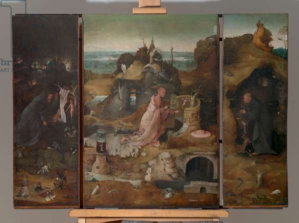 Hermit Saints Triptych, by Joren Anthoniszoon Van Aeken known as Bosch Hieronymus, 1493 about, 15th Century (oil on panel), cm 86,5 x 60each panel