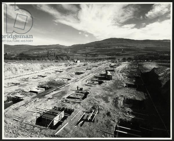 Construction site for the Mondadori graphic building