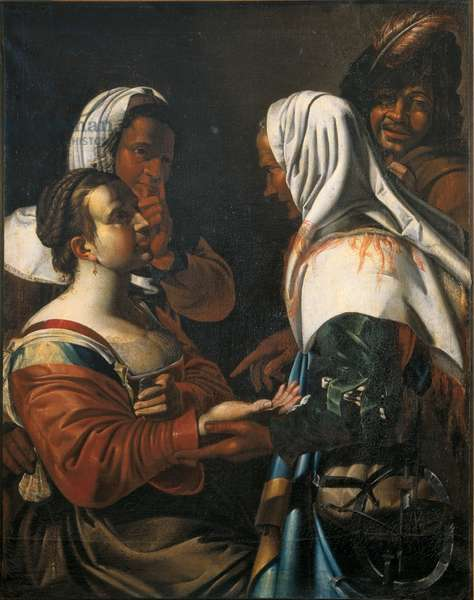 The Good Luck, by Unknown French artist, ca. 1610 - 1620, 17th Century, oil on canvas, 119 x 94 cm