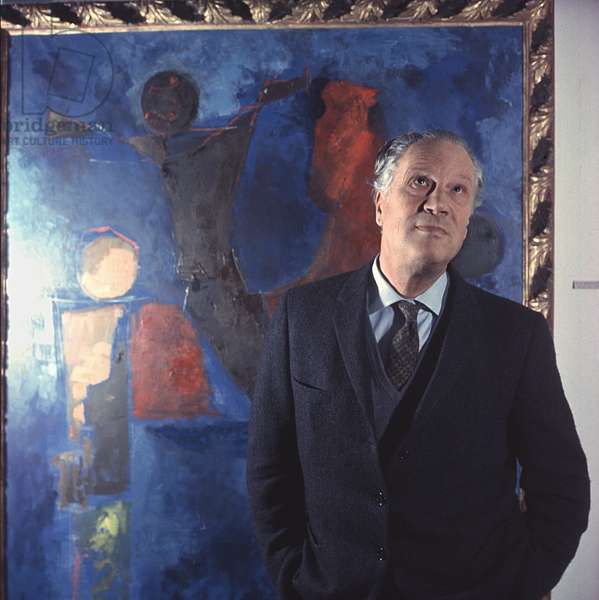 Portrait of Italian sculptor Marino Marini, Italy, December 1963 (photo)