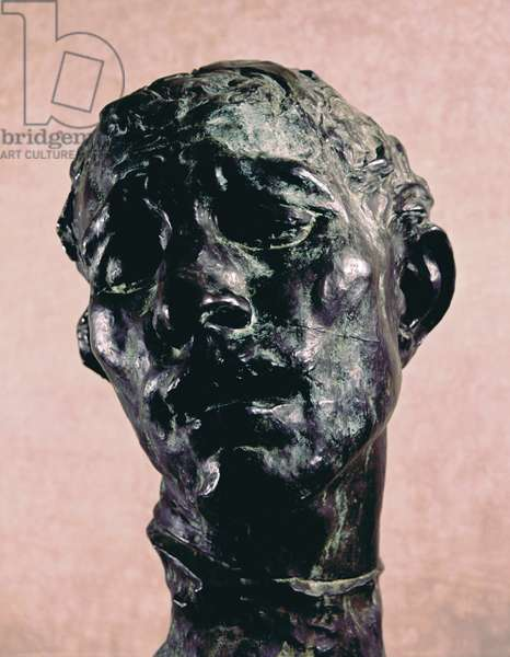 Monumental Head of Pierre de Wiessant, by Auguste Rodin, before 1889, 19th Century, bronze, 83 x 54 x 84 cm