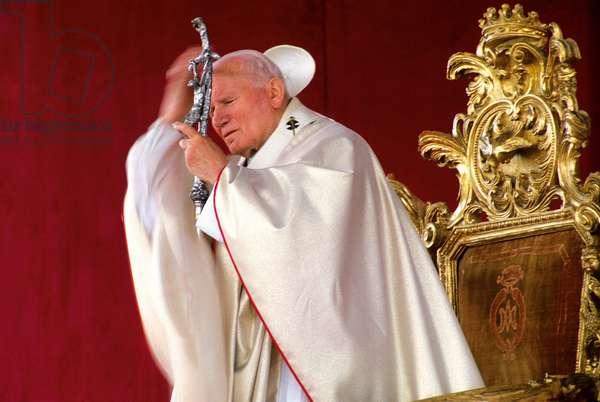 Pope John Paul II during the beatification of Maddalena Caterina Morano, Italy