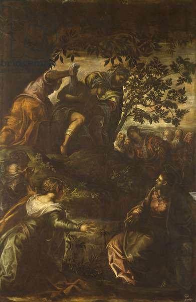 The Raising of Lazarus (La resurrezione di Lazzaro), by Jacopo Robusti known as Tintoretto, 1579, 16th century, oil on canvas, 541 x 356 cm.