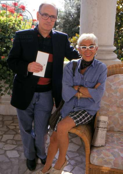 Ennio Morricone with Lina Wertmueller, 1980 (photo)