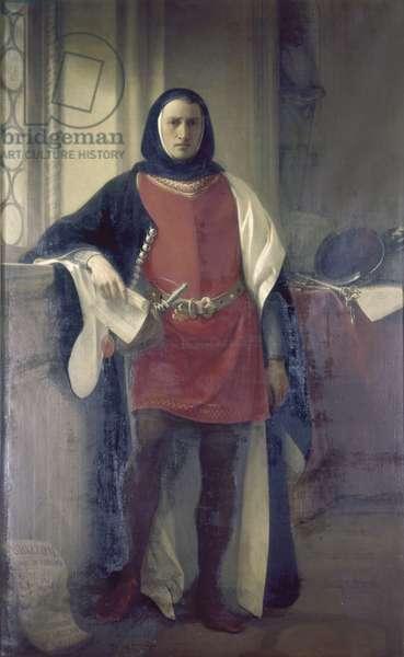 Odizzo II d'Este, by Carlo Antonio Goldoni, Ca 1846, 19th Century, oil on canvas