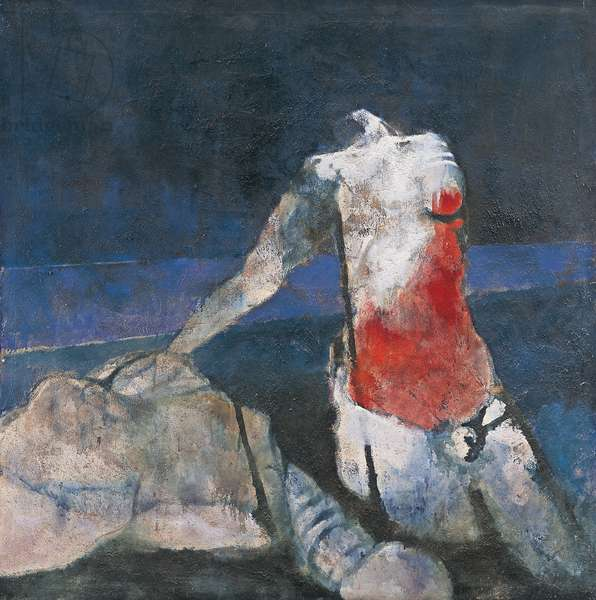 Waiting, 1972 (oil on canvas)