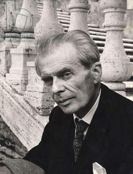 Aldous Huxley, Italy, 1963 (b/w photo)