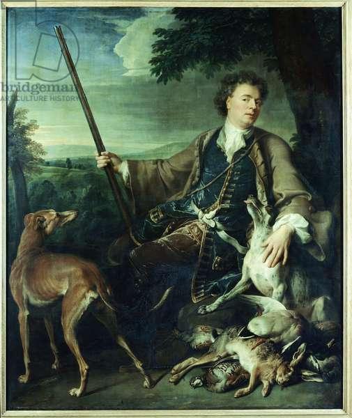 Self-portrait as a hunter (Autoportrait comme chasseur), by Alexandre-Francois Desportes, 1699, 17th Century (oil on canvas)
