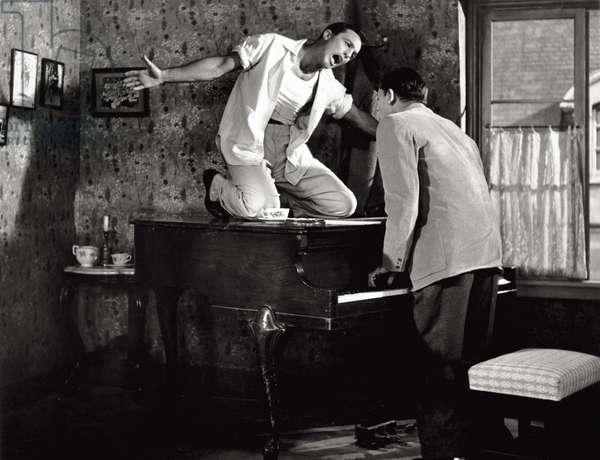 Gene Kelly and Oscar Levant in 'An American in Paris', 1951 (b/w photo)