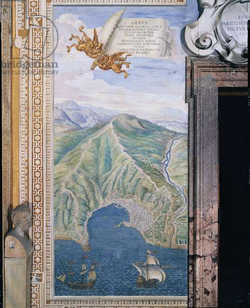 Genua (Genua), by Ignazio Danti, 16th century (fresco)