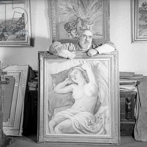 Ettore Cosomati in his atelier,  Milan, Italy