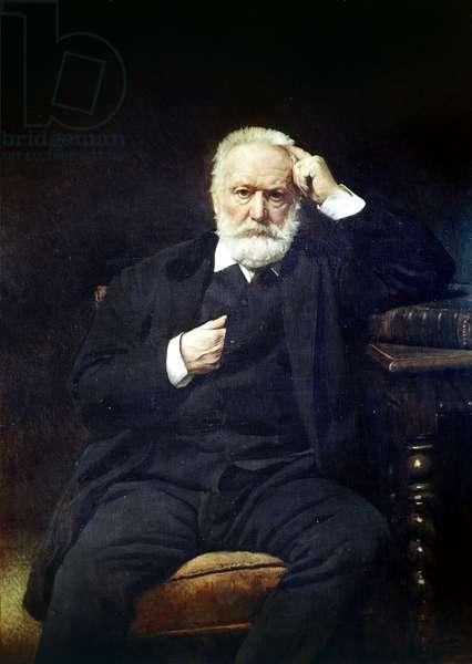 Portrait of Victor Hugo (1802 - 1885)inn 1879 (oil on canvas)