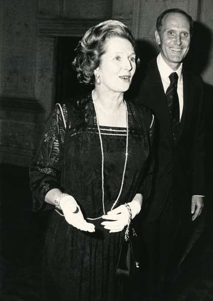 Margaret and Denis Thatcher, 1970 (b/w photo)