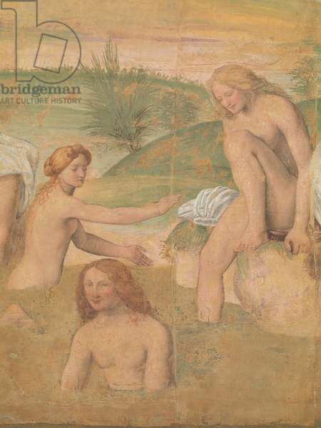 Young Girls Bathing (fresco transferred to panel)