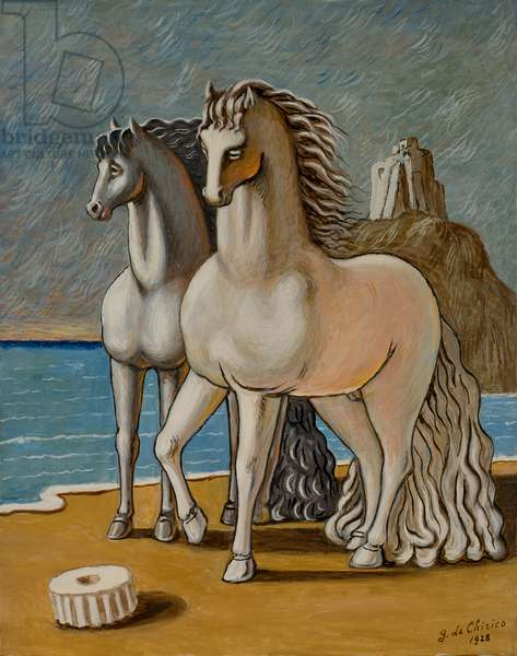 Ancient Horses, 1928 (oil on canvas)
